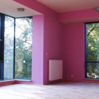 Fioletowa sala przedszkola wMilanówku
